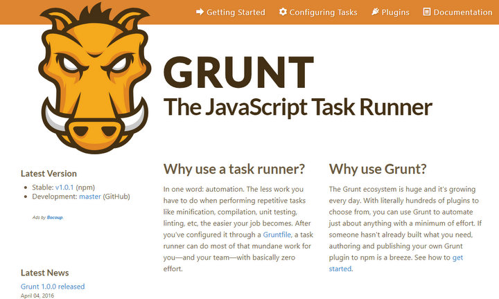 gulp-grunt-webpack-project-management-tasks-runner-web-development