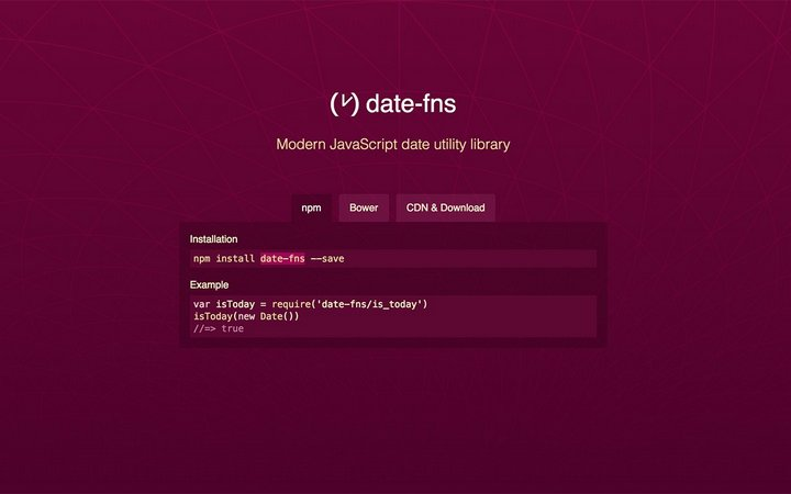 Date-fns time and date library